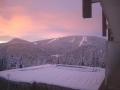 Pamporovo ski runs in the sunset