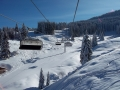 Pamporovo ski lift, winter Bulgaria