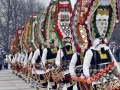 Kukeri, traditional dances, Snowcamp Bulgaria